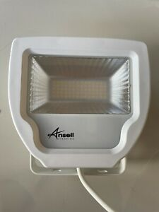 Ansell Calinor White 30W LED Floodlight Polycarbonate Warm White IP65