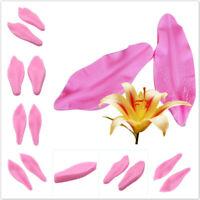 Lily Flower Petal Silicone Fondant Molds Cake Decorating Sugarcraft Baking Mould