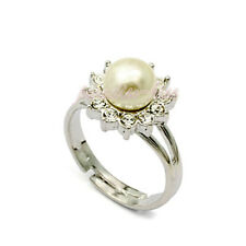 Anello Donna Cristallo Swarovski elements 18# perla N35