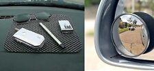Combo of 2 Blind Spot Mirror and Anti Skid Mat(Dashboard Mat)