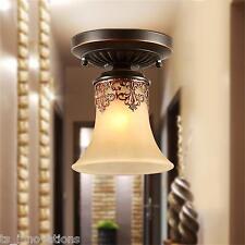 Rustic Chandelier Pendant Lighting Small Ceiling Light Fixture Flush Mount QA