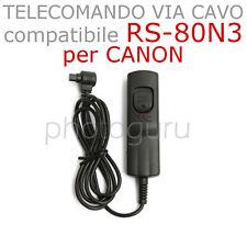 Telecomando COMPATIBILE RS-80N3 cavo per CANON 7D 6D 5D mk1 mk2 mk3 RS80N3