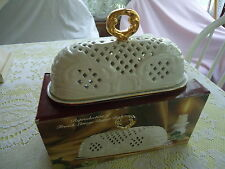 Limoges Covered Butter Dish In Original Box Reproduction Museum Re-Creations