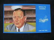 1988 Postcard Brooklyn Dodgers Larry Mac Pha9l art Susan Rini baseball