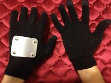 NINJA GLOVES looks like Naruto Kakashi Anime Anbu Cosplay (w/rubber dot grips)
