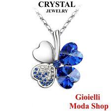 Collana e Ciondolo Quadrifoglio con Crystal Swarovski Donna - G81