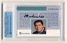 Muhammad Ali 1992 Pro Line Portraits Team NFL Autograph Auto Card  JSA Authentic