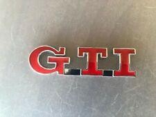 VW GTI etiqueta Metal Logo volkswagen Golf Passat Polo parrilla delantera