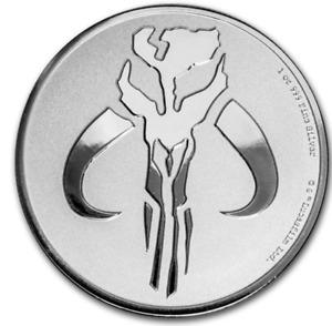 2020 Niue $2 Star Wars Mandalorian Mythosaur 1 oz .999 Silver Coin BU in capsule