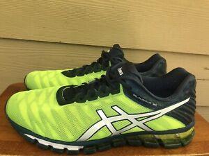 Asics Gel-Quantum 180 Men's Running Shoes Yellow Blue White T5J2N Sz 11.5