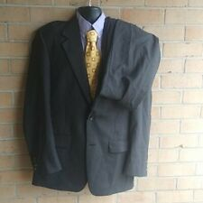 Mens 42R Evan Picone 2 Piece  Grey Check 100% Wool Suit pants 34x32