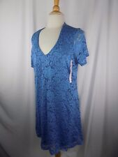 TIANA B LIGHT BLUE LACE EVENING PARTY OCCASION LINED DRESS SZ XXL NWT
