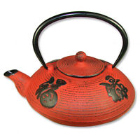Chinese Red Cast Iron Teapot