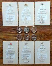 BRD 6 x Medaillen Sonderprägung Silber/versilbert Stattliche Prägestätten 2011