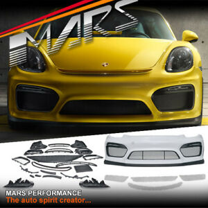 GT4 Style front bumper bar with DRL for Porsche 981 Cayman & Boxster Body Kits