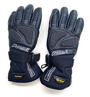 Ladies Dririder Lined Motorbike Gloves Womens Black Cordura Thermal Medium