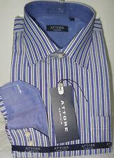 Camicia uomo collo classico Attore con rifiniture interne collo polsino art 075