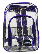 Clear Backpack Large Heavy Duty Purse School Kids Transparent Plastic Stadium