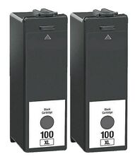 2PK For Lexmark 100XL Black Ink Cartridges Interpret S405