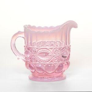Creamer - Eyewinker - Pink Opalescent Glass - Mosser USA