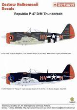 Techmod 1/32 Republic P-47D/M Bubbletop 61 FS/56 FG boxted capitán Boleslao gladych