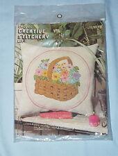 Vintage 1975 A Tisket.. A Basket.. Pillow Kit by Creative Stitchery #2152 NIP