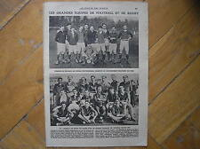 EQUIPE FOOTBALL RUGBY 1921 RACING CLUB TOULON ECOLE POLYTECHNIQUE MIROIR SPORTS