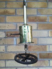 More details for victorian clock work bottle jack complete with key and cast iron spit wheel