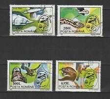 biosphère du delta du danube  ROUMANIE 1994 série de 4 timbres oblitérés / T1719