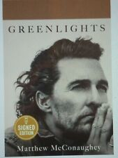 Matthew McConaughey signed book PRE ORDER 10/20 autographed greenlights hc 1st