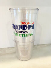 Because Grandpa Knows Everything Insulated 24oz Tumble Glass