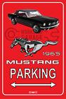 Parking Sign Metal MUSTANG CONVERTIBLE 1965 - 08 Black