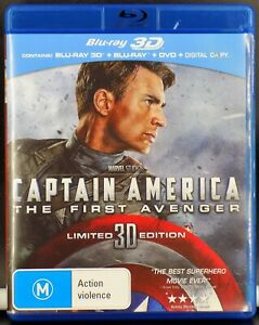 Captain America - The First Avenger 3D --- ( Blu-Ray 3D + 2D + Dvd )