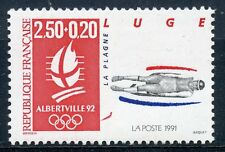 STAMP / TIMBRE FRANCE NEUF N° 2679 ** SPORT / LUGE / JEUX OLYMPIQUES ALBERVILLE