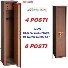 ARMADIO BOX PORTAFUCILI FUCILIERA ACCIAIO BLINDATO 4 - 8 POSTI FINITURA LEGNO