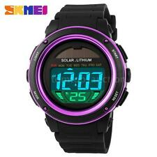 SKMEI Mens Womens Watch Solar Power Analog Digital Alarm Sports Waterproof T1O5