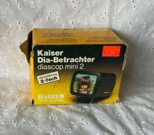 KAISER  DIASCOP MINI 2  2011 SLIDE VIEWER 35MM 5X5 SLIDES Made in Germany :