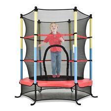 Kinder Trampolin mit Sicherheitsnetz Indoor Outdoor Jumper Fun 140cm