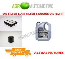 PETROL OIL AIR FILTER + SS 10W40 OIL FOR HYUNDAI SANTA FE 2.7 173 BHP 2000-06