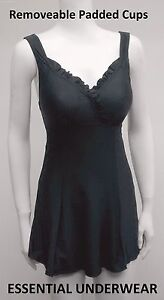 SWIMDRESS TUMMY CONTROL SKIRTED SWIMSUIT REMOVEABLE PADDED CUPS SIZE M-XXXL
