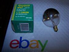 Bulbrite Half ChromeMirror 40 Watt 120V Candelabra Bulb P/N 40G16HM