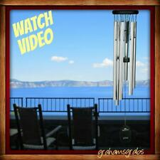 New Woodstock Chimes Pachelbel Canon Chime Silver Musically Tuned Free Pri Ship