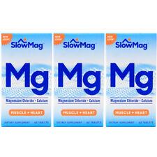 Pack de 3 Slow Mag Magnésium Chlorure et Calcium, 60 Comprimés Chaque