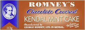 Kendal Mint Cake Romney's Chocolate Covered  Kendal Mintcake 1 x 113g  Bar