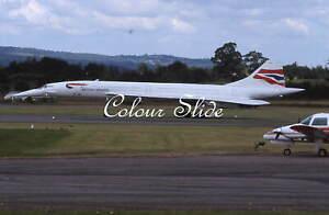 British Airways Concorde G-BOAA, 8.00, Colour Slide, Aviation Aircraft