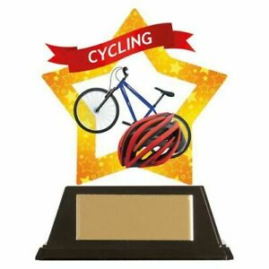 Cycling Mini Star Trophy Award 10 cm with FREE Engraving up to 30 letters