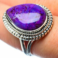 Purple Copper Turquoise 925 Sterling Silver Ring Size 8 Ana Co Jewelry R27520F