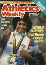 ATHLETICS WEEKLY MAGAZINE – IAAF WORLD CHAMPIONSHIP ROME 1987 – TRACK & FIELD