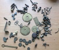 Antique Clock Parts Bit Bobs Swcrew Feet Collection From Clockmakers Spares r12