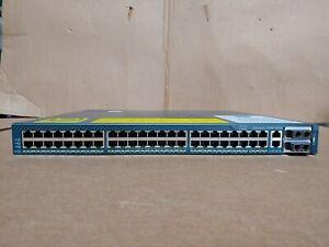 Cisco WS-C4948-10G 48 Port Gigabit +10GB Switch w/ Dual AC /10GE Modules CD